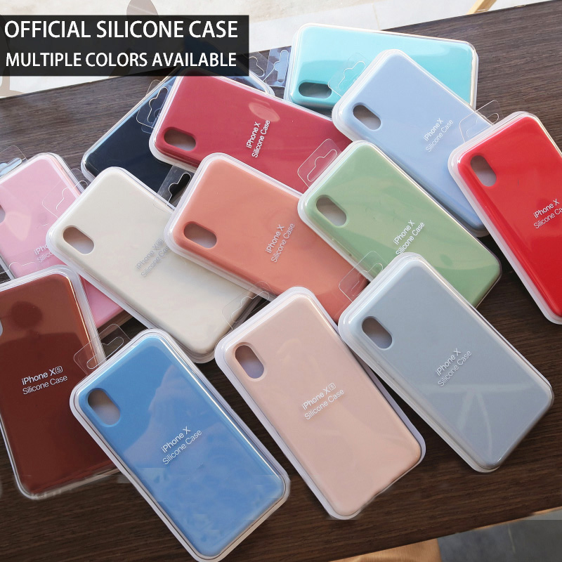 Original Silicone Case For IPhone 7 8 6 6S Plus 5 5S SE Cases For Apple For Iphone XS MAX XR X Cute Candy Cover Phone Case