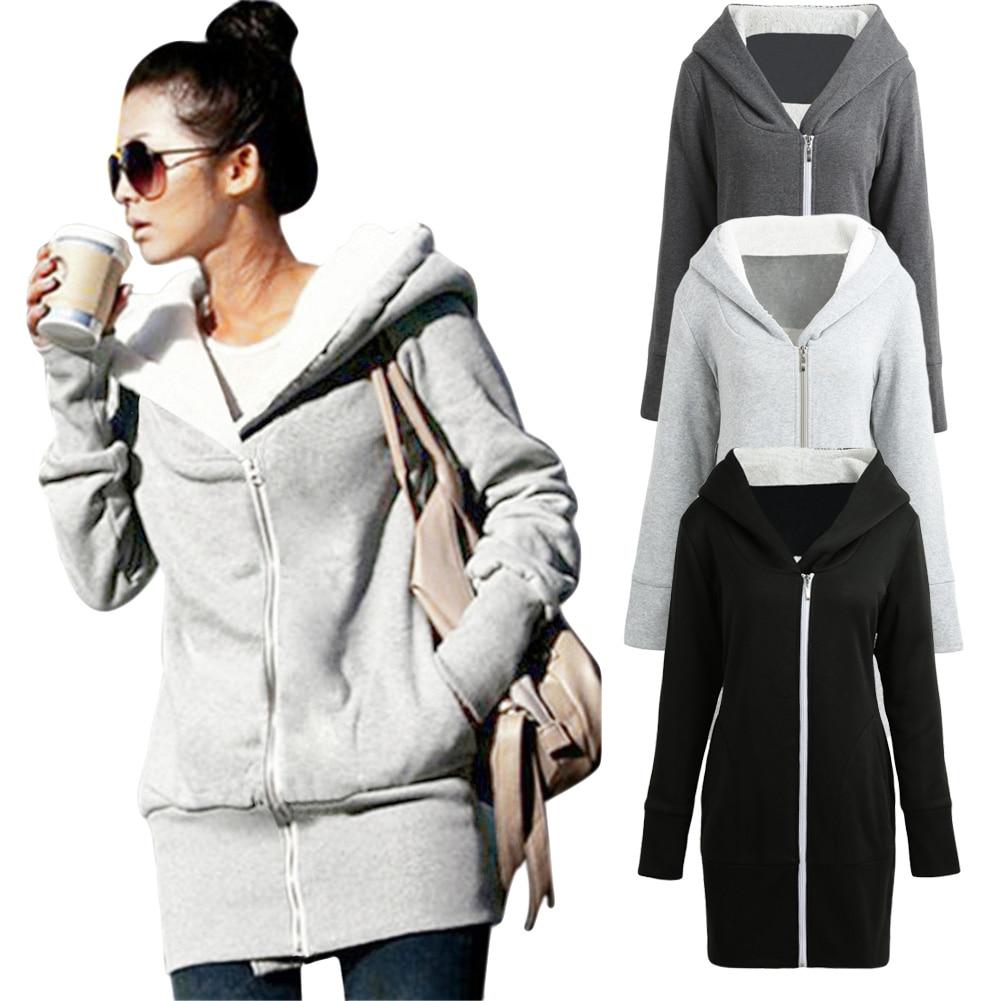 Responsible Autumn Oversized Women Casual Long Hoodies Sweatshirt Coat Pockets Zipper Outerwear Hooded Jacket Plus Size 5xl Tops Modern And Elegant In Fashion Hoodies & Sweatshirts