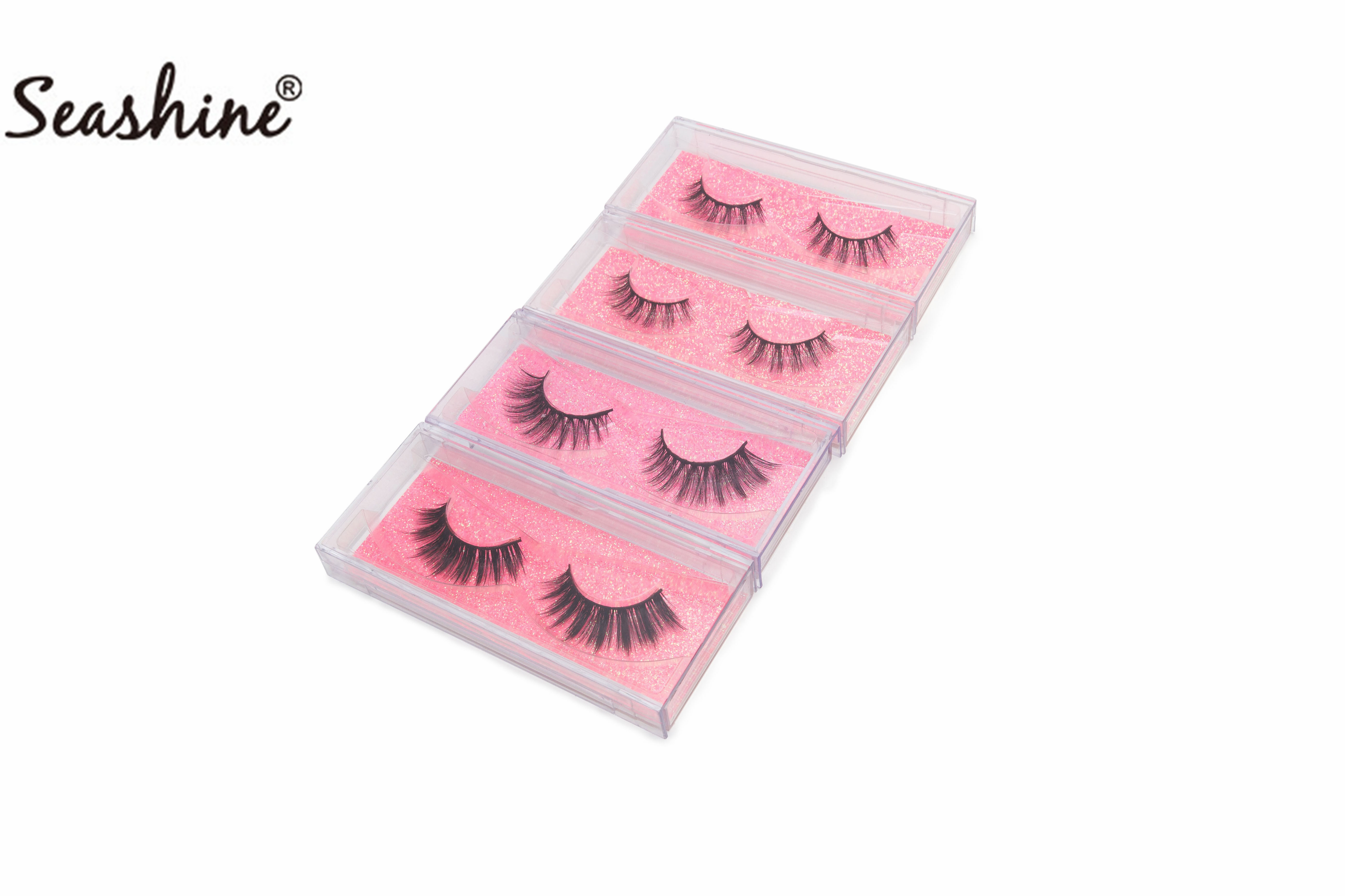 6c314f9d161 Seashine Factory Hand Made 3D Mink Lashes Premium Mink Fur Strip Eyelash  Private Label Customize Brand 3D Mink Eyelashes