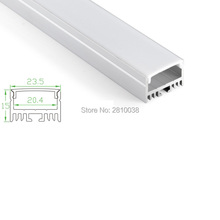 100 X 1M Sets/Lot Recessed wall led strip aluminium profile and wide square led alu extrusion for wall or ceiling lights