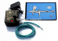 ABEST New 0.25MM Fine line Dual action airbrush compressor Complete kit for Nail art toy Hobby Model AC06 80K
