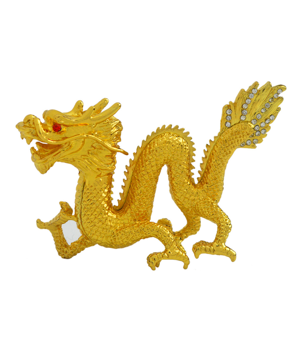2017 New Feng Shui Figurines Bejeweled Gold Dragon Decoration Crafts W23802017 New Feng Shui Figurines Bejeweled Gold Dragon Decoration Crafts W2380