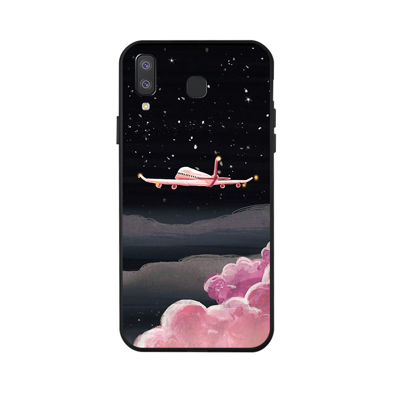 Ojeleye Fashion Black Silicon Case For Samsung Galaxy A8 Star Cases Anti knock Phone Cover For Samsung A9 Star Covers in Fitted Cases from Cellphones Telecommunications