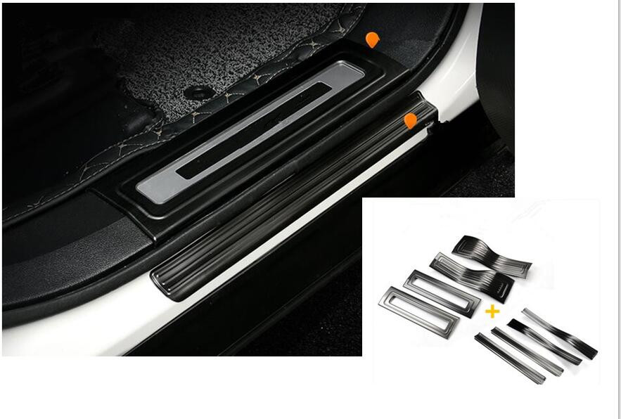 Fit for Ford Explorer 2016 2017 Stainless Steel Door Sill Scuff Plate Trim 4PCS