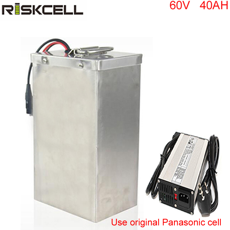 Customized 18650 lithium ion battery pack 60V 40Ah Electric Rickshaw Battery for 1500W 3000W Pedicab Motor free customs taxes super power 1000w 48v li ion battery pack with 30a bms 48v 15ah lithium battery pack for panasonic cell