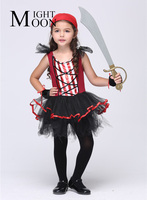 Girl Pirate Cosplay Costumes Halloween Stage Performance Child Costumes Fantasia Vestido Tutu Dress Kids Carnival Party