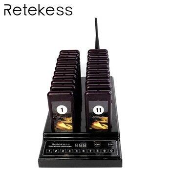 RETEKESS T112 serveur système d'appel Restaurant téléavertisseur sans fil 433.92 MHz avertisseur sonore gestion du système de file d'attente pour café église