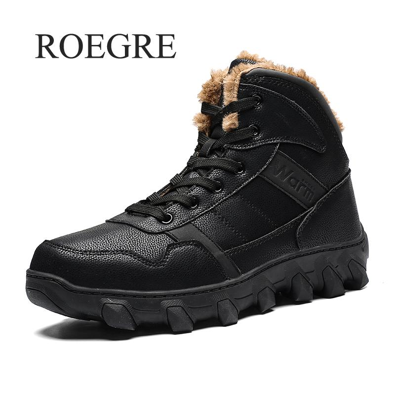 Men Winter Boots With Fur 2018 Warm Snow Boots Casual Men Shoes Men Winter Boots Men Footwear Fashion Rubber Ankle Shoes Work eberjey купальный бюстгальтер page 3