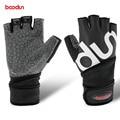 Bodon equipo de entrenamiento de fitness guantes de los deportes de los hombres y mujeres antideslizante alargado de ejercicio con mancuernas de fitness resistentes al desgaste