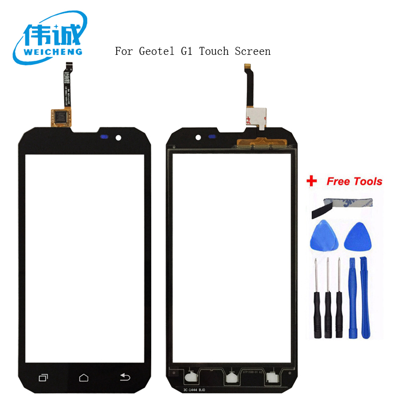 WEIHCENG 5.0  Touch Screen Digitizer For Geotel G1 Front Glass Lens Mobile Phone Touch Panel Sensor +Free ToolsWEIHCENG 5.0  Touch Screen Digitizer For Geotel G1 Front Glass Lens Mobile Phone Touch Panel Sensor +Free Tools