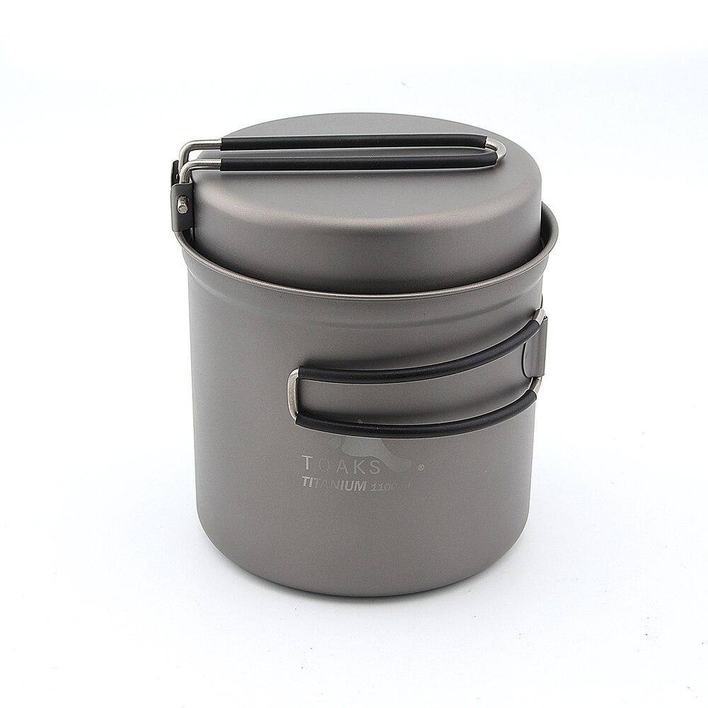 TOAKS CKW-1100 1100ml Cookware Set Ultralight Titanium camping Pot w Frying Pan nz titanium cookware 1200 ml