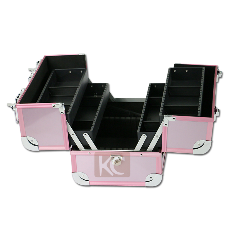 2014 amazing design luxury appearance aluminum finished with silver metal  framed makeup vanity case 381f4663b36c