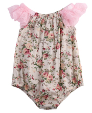 Emmababy 0-24M Newborn Baby Girls Clothes Baby Girls Bodysuits Flower Cotton Lace Sleeveless Jumpsuits For Cute Baby Girls New cheap Girl Romper Outfits Single Breasted Floral Cotton+Lace O-Neck Fits true to size take your normal size Rompers
