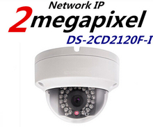 Comercio al por mayor Multi Idioma DS-2CD2120F-I 2MP Cámara IP Mini Cámara Domo de INFRARROJOS 1080 P POE Cámara de Red de Seguridad
