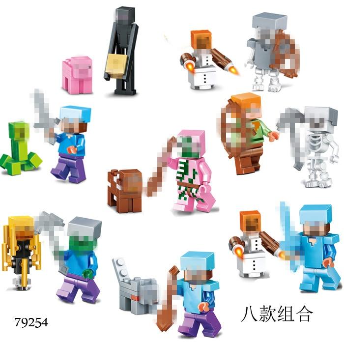 2Pcs/set My World Little Toys With Pet Model Ninjagoo Dragon Blocks Compatible Legoed Bricks Educational Toys For Kids