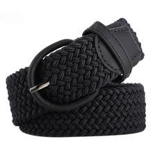 Студенческое кольцо для девочек и мальчиков-подростков с пряжкой на поясе, тканевый однотонный пояс, металлические вязаные джинсы Слаксы в Корейском стиле