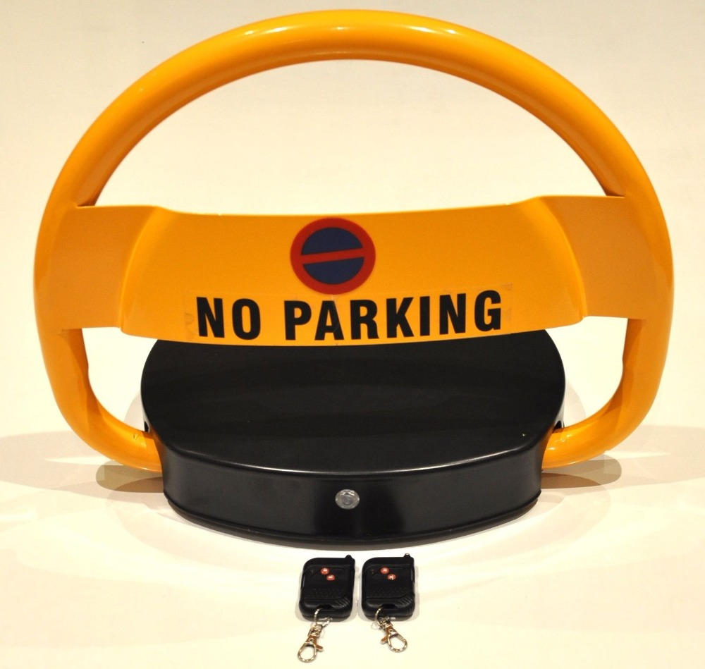 Outdoor Waterproof Battery Powered Automatic Parking Barrier With 2 Remote Control -No Parking LOCK Cars(no Battery Included)