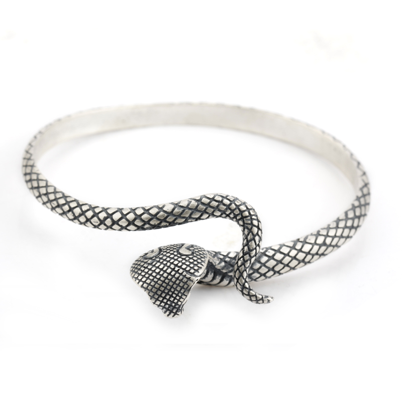 Cuff Bangle 925 Sterling Silver Snake Shape European Style Bracelets For Women Adjustable Jewelry trendy christmas style elk shape cuff ring for women