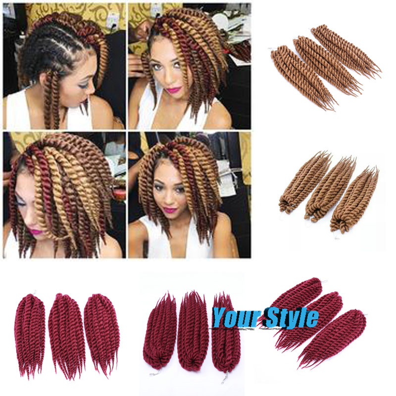12 85g Havana Mambo Twist Crochet Braids Hair Synthetic Crochet