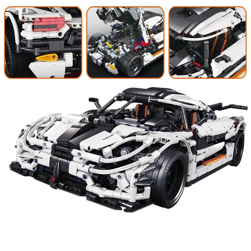 Technic Series The MOC-4789 Changing Racing Car Set LegoINGys 3368 Building Blocks Bricks Children Toys Model 42056 doinbby store 21004 1158pcs with original box technic series f40 sports car model building blocks bricks 10248 children toys