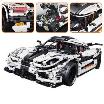 Technic Series The MOC Changing Racing Car Set Building Blocks Bricks Children Toys Model