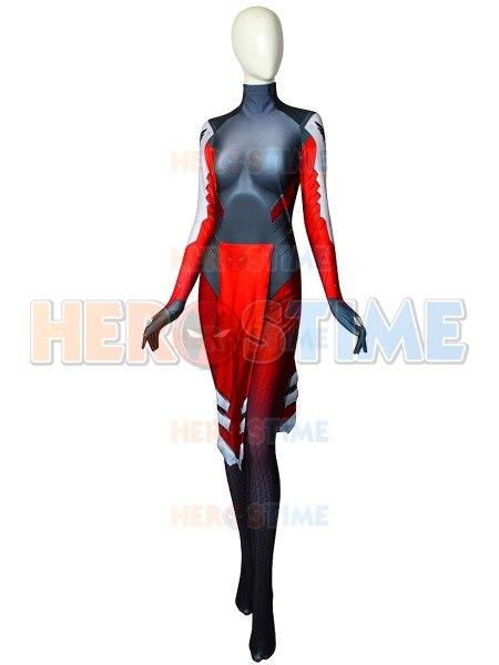 Mercy Costume 3D Printed Spandex Zentai Superhero Mercy Game Costume Halloween Party Cosplay Bodysuit Custom Made