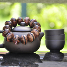 MOROW New Fashion Natural Bodhi Seed Ellipse Buddha Beads Prayer Handmade Womens