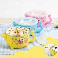 Baby feeding Stainless Steel Bowl anti slip tableware for baby Water Injection Heat conservation insulation baby dishes