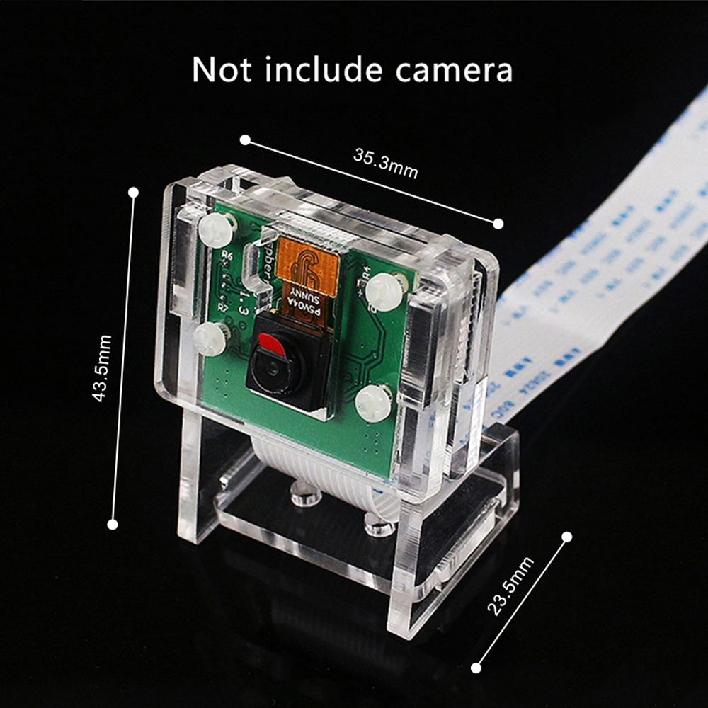 Image 4 - Raspberry Pi 3b+ Camera Case/Camera Module Bracket,Protective Shell and Bracket 2in1 Acrylic Transparent Shell-in Demo Board from Computer & Office