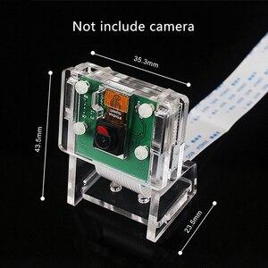 Image 4 - Raspberry Pi 3b + funda para cámara/soporte para Módulo de cámara, carcasa protectora y soporte 2 en 1 carcasa transparente acrílica, solo funda