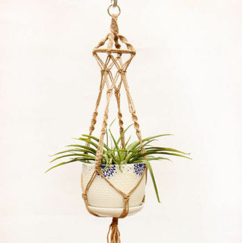 2019 hermosa Vintage macramé para planta de maceta jardín titular piernas colgando cuerda cesta decoración para el hogar