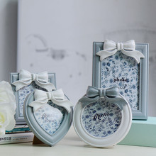 Marco de fotos levitación magnética con forma cuadrada de corazón blanco Vintage europeo decoración de boda novedad regalo Carro de fotos