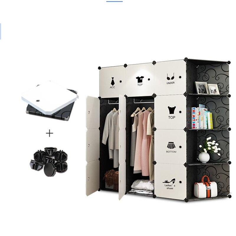 Meubles de rangement Lorsque le trimestre armoire BRICOLAGE Non-tissé pli Portable Armoire De Rangement de garde-robe de meubles de chambre à coucher chambre d'organes