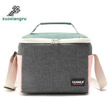 лучшая цена 5l Outdoor Shoulder Picnic Bag Cooler Bag Oxford Cloth Waterproof Takeout Aluminum Foil Insulation Handbag Lunch Cold Box