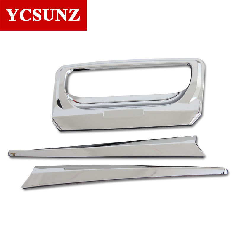 Car Accessories Tail Gate Trim Cover For Ford Ranger T6 2012-2019 Car Styling Wildtrak Chrome Color