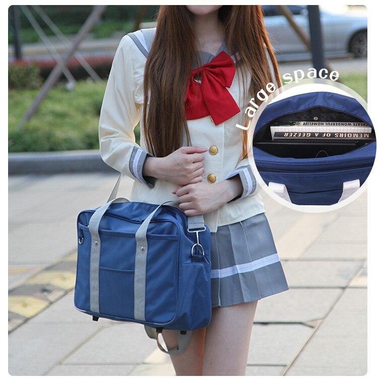 8c1bdef537ae Japanese Girl JK Uniform Cosplay Handbag Brand Fashion Oxford ...