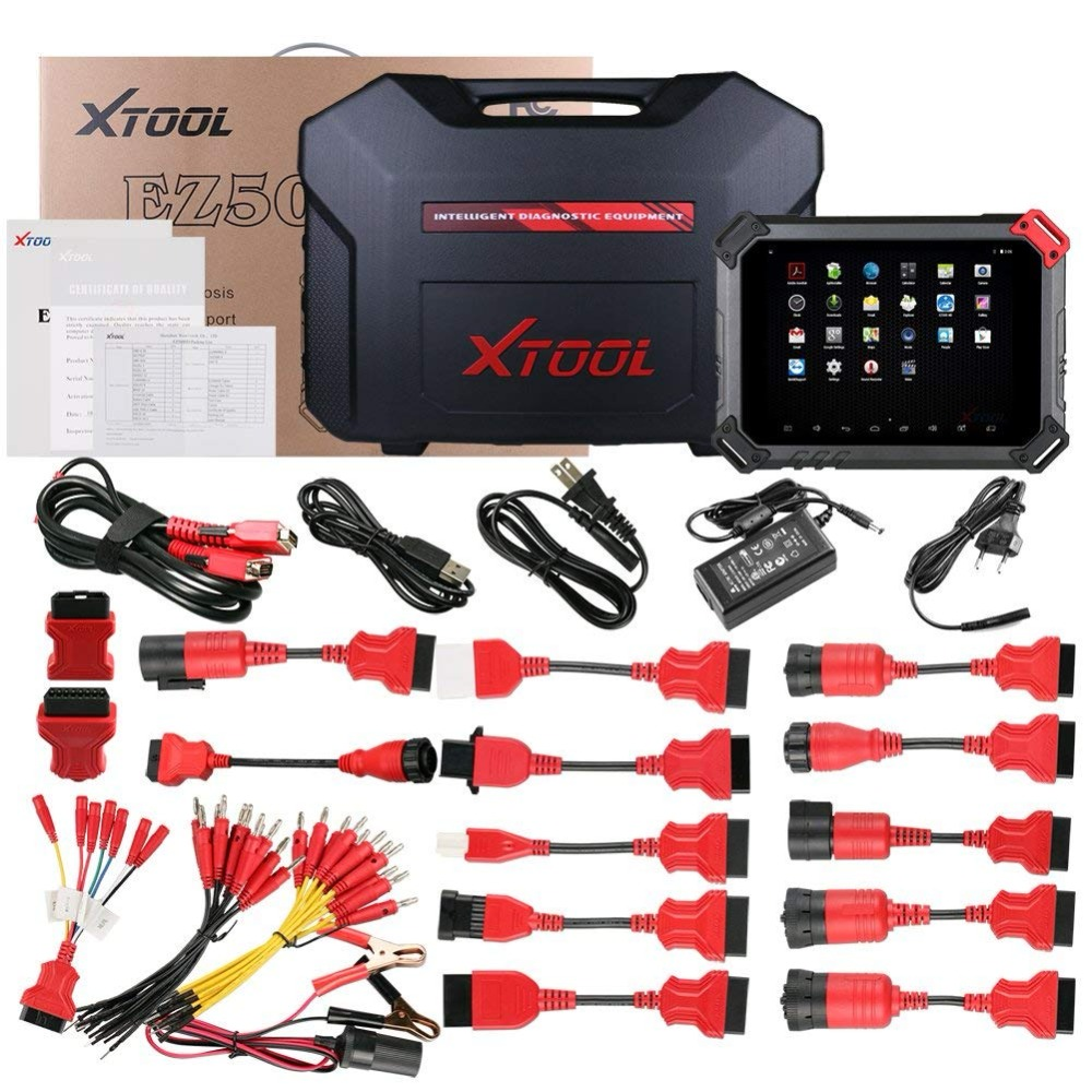 2018 NEW XTOOL EZ500 OBD2 Full System Car Diagnostic Tool Kit for all Cars with OBD1 Adapter set Special Function PK DS808 MS906