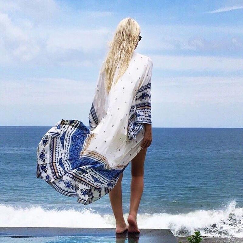 New Arrivals Beach Cover up 2017 Hot Floral Romantic Swimwear Ladies Pareo Beach Cape Sun Bath Beach Wear Dress Chiffon Swimwear