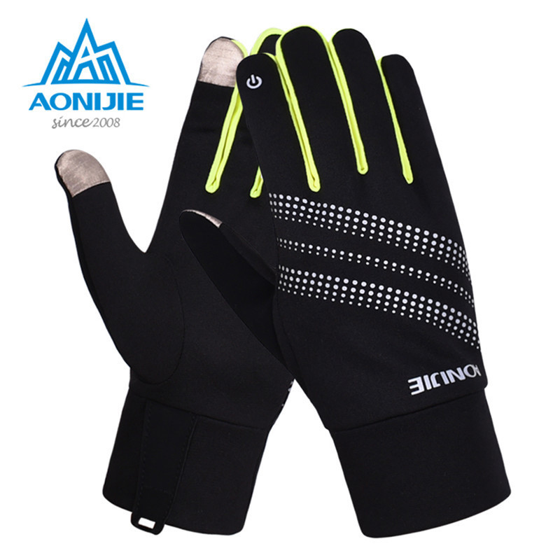 AONIJIE Touchscreen Glove Sports Warm Fleece Full Finger Gloves Hunting Cycling Motorcycle Ski Snowboard Racing Anti-skid Gloves