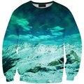 Hot Sale 2016 Hoodie 3D Sweatshirt Harajuku Snow Mountain Print Cartoon Sporting Pullover For Women Drop Shipping