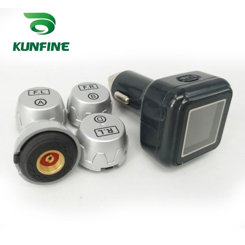 Smart Car font b TPMS b font Tire Pressure Monitoring System cigarette lighter Digital LCD Display