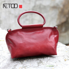 цены AETOO 2017 new handbag bag tide original design handbag leather ladies retro bag bag shoulder diagonal package