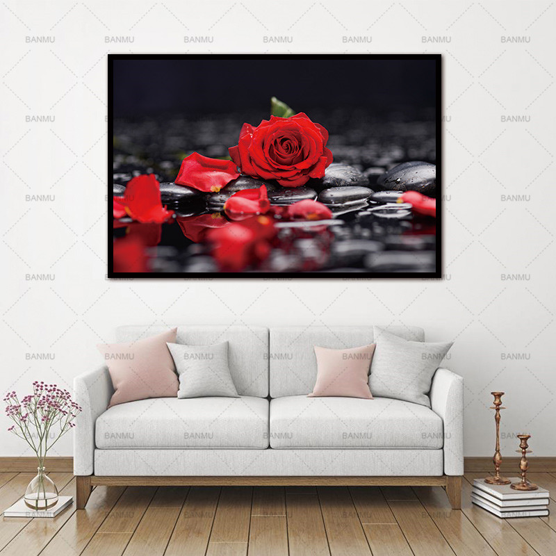 No Frame Wall art Flower canvas painting home deor  Wall Pictures print  for Living Room Art Decoration Pictures  morden print