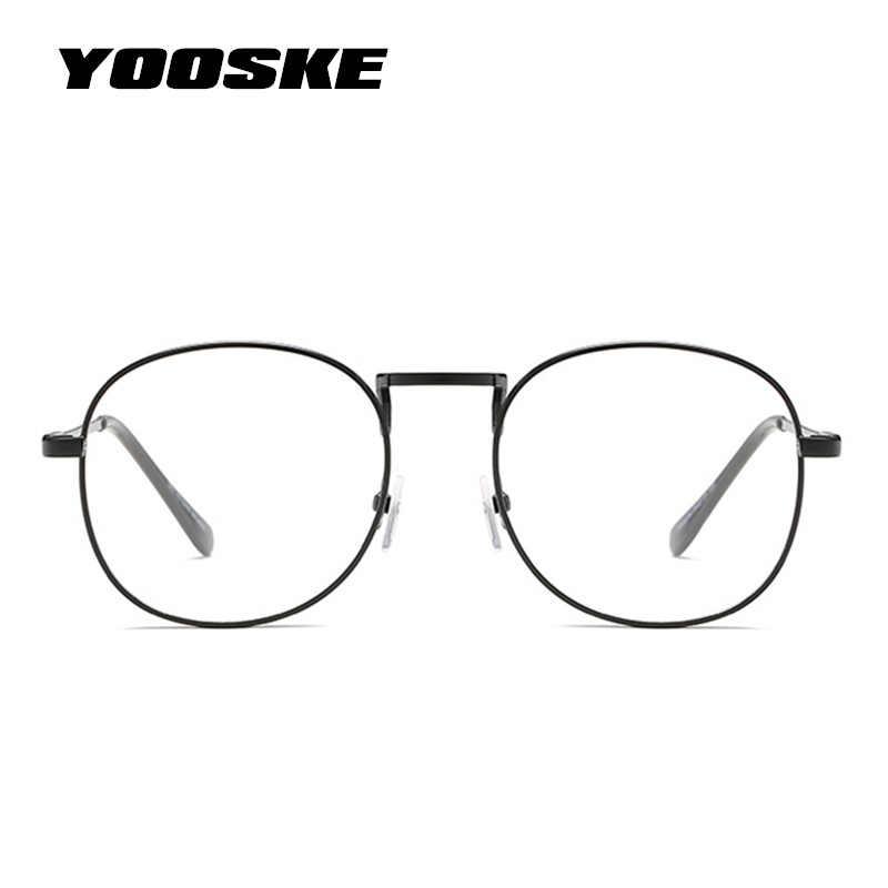 YOOSKE прозрачные оптические круглые очки, оправа для женщин и мужчин, ретро оправы для очков, прозрачные линзы, очки, черные, серебристые, Золотые очки