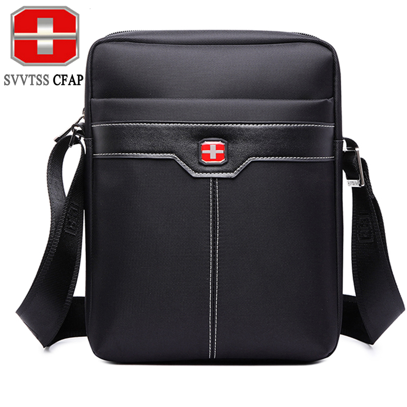 SVVTSSCFAP Men's Messenger Bag Waterproof Nylon Crossbody Bags Brands Black Cross Bag Men Shoulder Bags Women Unisex Designer