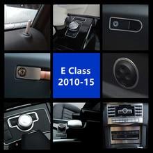 Центральная консоль кондиционер CD панель украшение для Mercedes Benz E класс W212 2010-15 алюминиевый сплав регулировка сиденья круг