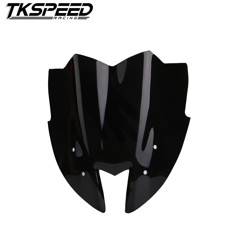 Motorcycle Windshield WindScreen Viser VIsor Front Windshield Fits For Kawasaki Z800 2014 2015 2016 Double Bubble  Free Shipping