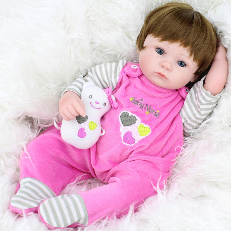 Soft Silicone Vinyl Reborn Dolls 45cm Handmade Cloth clothes Realistic Fashion Baby Reborn Dolls play house toy Children Gift бра lumion ponso 3408 1w