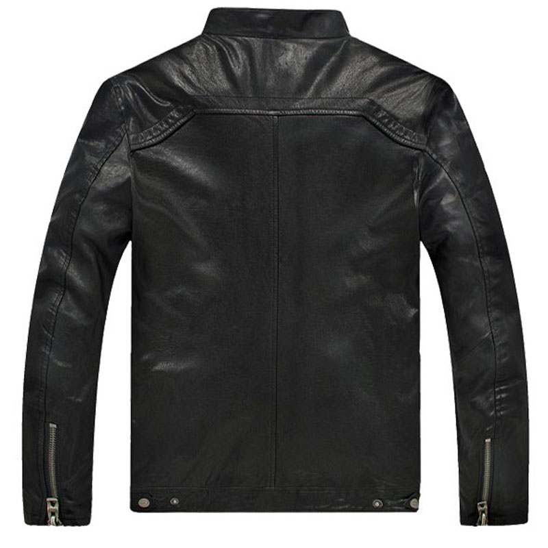 Dermis Leather Jacke Men Genuine Sheepskin/Suede Leather Jacket Fashion Brand Design Casual Slim Biker Motorcycle Coat Jaqueta 2