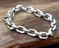 Braceletes de amizade 925 pulseira de prata esterlina para homem 8mm 20cm de comprimento prata tailandesa